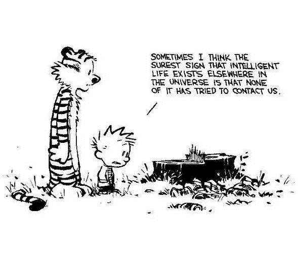 Calvin and hobbes   intelligent life